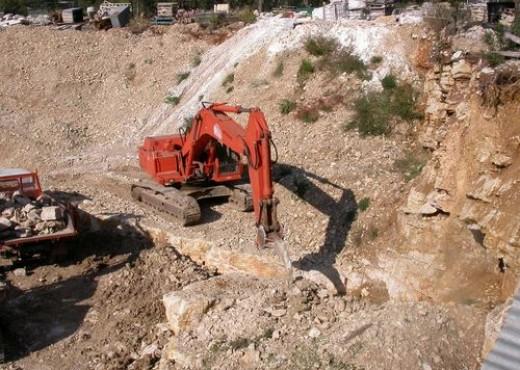 Extraction de pierres