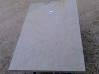 Bac à douche en pierre de la Sine polie