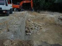 Terrassement à Vence pour implantation cave sous villa